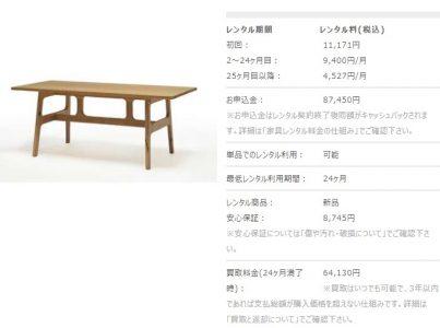 スタイリクスのダイニングテーブル