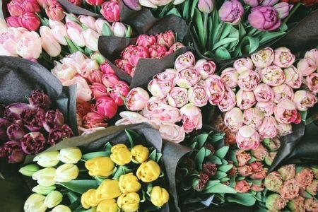 花市場でのお花