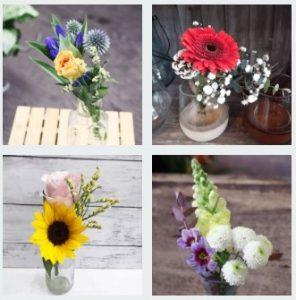 体験コースの花のブーケ