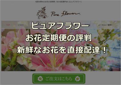 ピュアフラワーの公式サイトのTOP画像